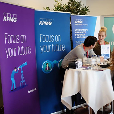 KPMG stand at the conference